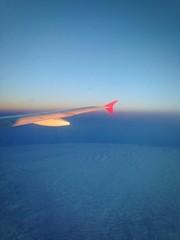 за окном самолёта