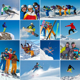 Ski/Snowboard Collage