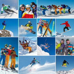Ski/Snowboard Collage