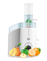 electric kitchen juicer vector illustration
