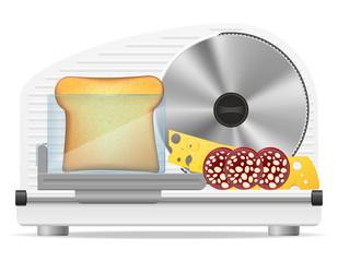 electric kitchen slicer vector illustration