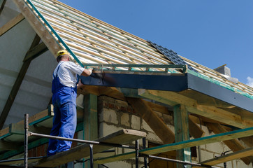 Completing work on a roof