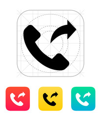 Call forwarding icon.