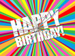 """HAPPY BIRTHDAY"" Card (message congratulations party)"