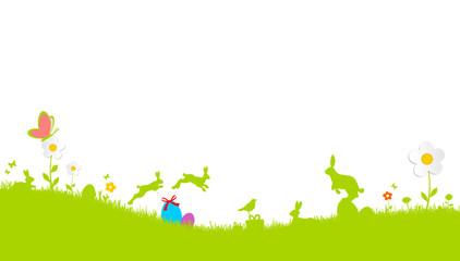 springende Osterhasen