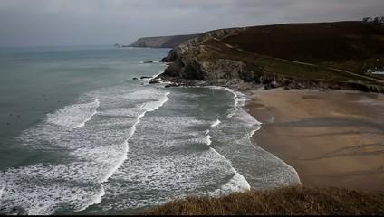 Porthtowan beach near St Agnes Cornwall England UK