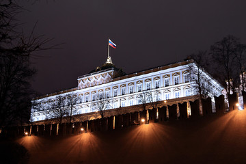 Kremlin Palace at night