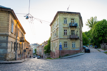 ancient house in the old city of Lviv