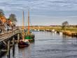 Harbor in medieval city of Ribe, Denmark