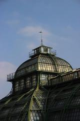 Vienna Greenhouse in shonbrunn park close_up