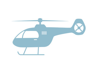 Helicopter vector icon on white background