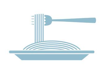 Spaghetti vector icon on white background