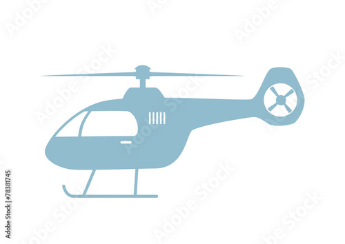Helicopter vector icon on white background - 78381745