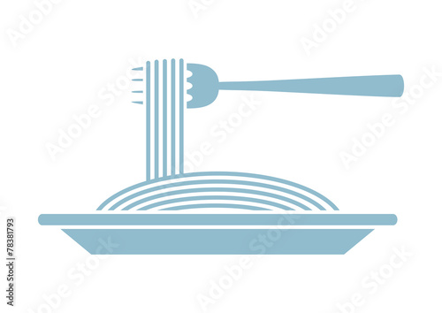 Spaghetti vector icon on white background - 78381793