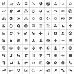 100 diagram icons.
