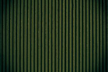 Green corrugated sheet metal