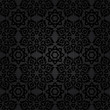 Black seamless background of elements of Baroque
