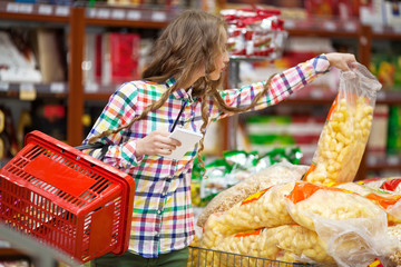 The girl at the grocery store