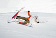 Skifahrer stürzt