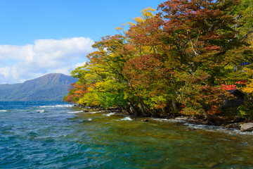 Lake Towada in autumn, in Aomori and Akita, Japan
