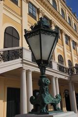 Vienna lantern and Shonbrunn palace facade
