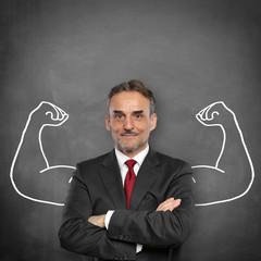 Mann mit Muskeln / Kraft / Stärke / Erfolg