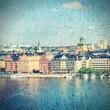 Stockholm, Sweden. Filtered style.
