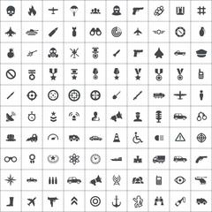 100 war icons.