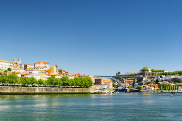 The Douro River and the view of the historic centre of Porto, Po
