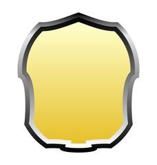 Illustration gold banner of white background