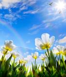 art Spring flower on Easter Day