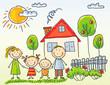 Family near their house - 78388399