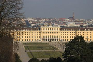 Vienna aerial view from Shonbrunn