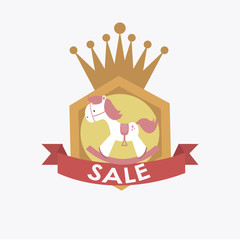 sale or discounst of hobbyhorse over label for girls over white