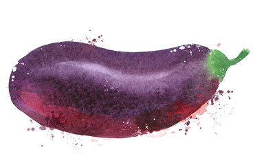 Eggplant vector logo design template. vegetables or food  icon.