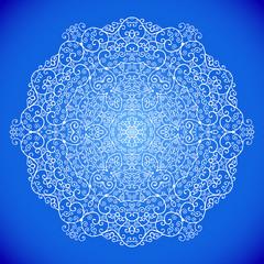 snowflake from swirls