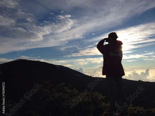 canvas print picture instant photo volcan
