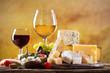 Leinwanddruck Bild - Various types of cheese