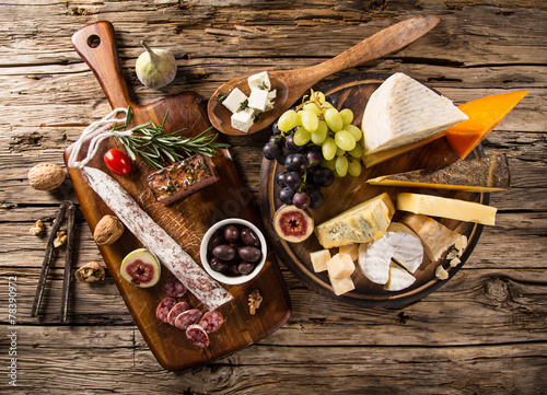 Various types of cheese - 78390972