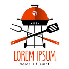 Barbecue vector logo design template. cooking or Grill icon.