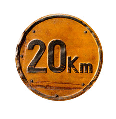 20 KmH Schild
