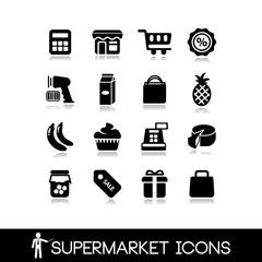 Supermarket icons set3