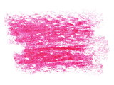 Fototapety photo grunge red wax pastel crayon spot isolated on white