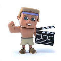 3d Bodybuilder makes a movie