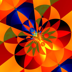 Geometric Background for Design Artworks - Colorful Abstract