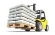 Forklift with white sacks - 78394160