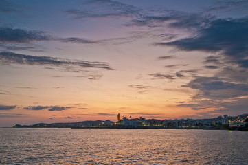 Sunset at Sitges, Spain