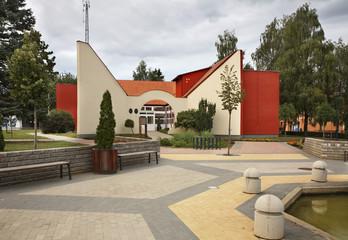 Square in Zahony. Hungary