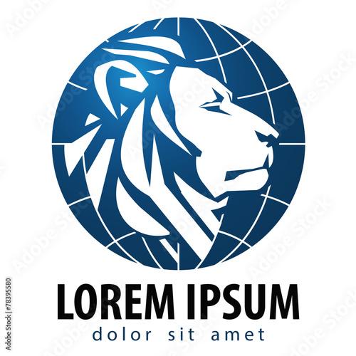 Lion vector logo design template. Leo or animals icon. - 78395580