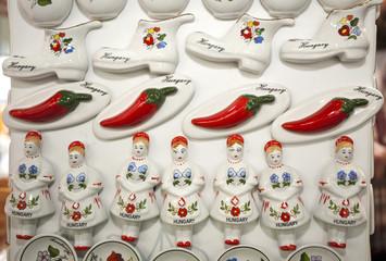 Original hungarian gifts handmade porcelain fridge magnet